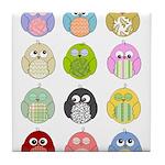 Cute Owls Tile Coaster