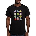 Cute Owls Men's Fitted T-Shirt (dark)