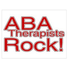 ABA Therapists Rock! Wall Art Poster