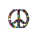 Hippie Flowery Peace Sign 38.5 x 24.5 Wall Peel