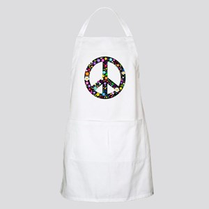 Hippie Flowery Peace Sign Apron