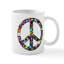 Hippie Flowery Peace Sign Mug