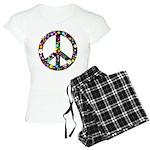 Hippie Flowery Peace Sign Women's Light Pajamas