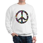 Hippie Flowery Peace Sign Sweatshirt