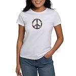 Hippie Flowery Peace Sign Women's T-Shirt