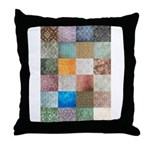 Patchwork Quilt squares patte Throw Pillow