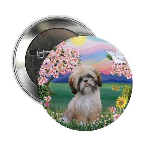 "Blossoms - Shih Tzu #13 2.25"" Button (100 pack)"
