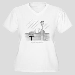 Cake Talk Women's Plus Size V-Neck T-Shirt