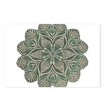 Green and Black Lacey Doily d Postcards (Package o