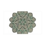 Green and Black Lacey Doily d 38.5 x 24.5 Wall Pee