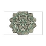 Green and Black Lacey Doily d 22x14 Wall Peel