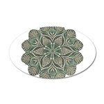 Green and Black Lacey Doily d 38.5 x 24.5 Oval Wal