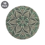 Green and Black Lacey Doily d 3.5
