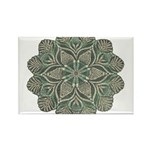 Green and Black Lacey Doily d Rectangle Magnet (10