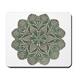 Green and Black Lacey Doily d Mousepad