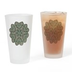 Green and Black Lacey Doily d Drinking Glass