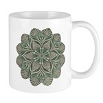 Green and Black Lacey Doily d Mug