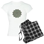 Green and Black Lacey Doily d Women's Light Pajama