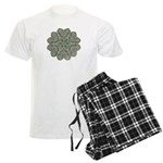 Green and Black Lacey Doily d Men's Light Pajamas