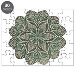 Green and Black Lacey Doily d Puzzle