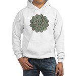 Green and Black Lacey Doily d Hooded Sweatshirt