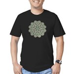 Green and Black Lacey Doily d Men's Fitted T-Shirt
