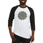 Green and Black Lacey Doily d Baseball Jersey