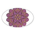 Pink and black flowery Lace D Sticker (Oval 10 pk)