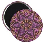 Pink and black flowery Lace D Magnet
