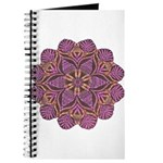 Pink and black flowery Lace D Journal
