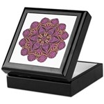 Pink and black flowery Lace D Keepsake Box