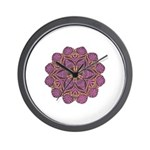 Pink and black flowery Lace D Wall Clock