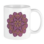 Pink and black flowery Lace D Mug