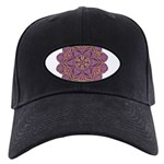 Pink and black flowery Lace D Black Cap