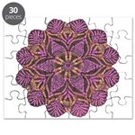 Pink and black flowery Lace D Puzzle