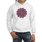 Pink and black flowery Lace D Hooded Sweatshirt