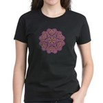 Pink and black flowery Lace D Women's Dark T-Shirt