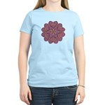 Pink and black flowery Lace D Women's Light T-Shir
