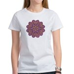 Pink and black flowery Lace D Women's T-Shirt