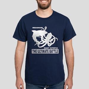 MegaShark Giant Octopus Battle Dark T-Shirt