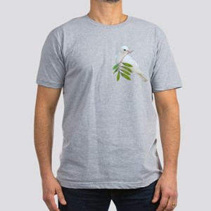 Dove Olive Branch Men's Fitted T-Shirt (dark)