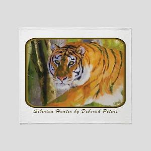 Tiger Art Throw Blanket