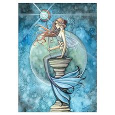 Beautiful Mermaid Wall Art Poster