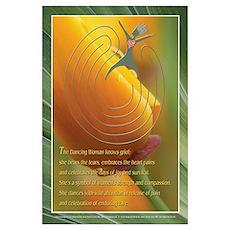 Dancing Woman Labyrinth (tm) Wall Art Poster