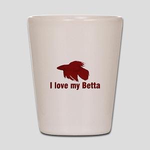 I Love My Betta Shot Glass