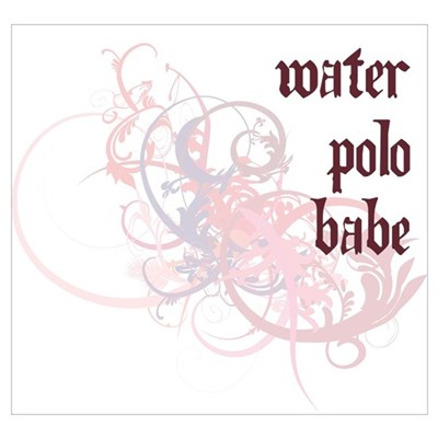 Water Polo Babe Wall Art Poster