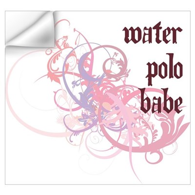 Water Polo Babe Wall Art Wall Decal