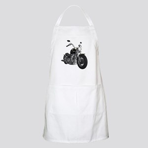 BLACK MOTORCYCLE BBQ Apron