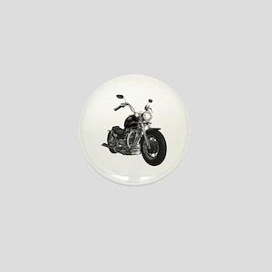 BLACK MOTORCYCLE Mini Button