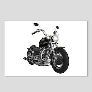 BLACK MOTORCYCLE Postcards (Package of 8)